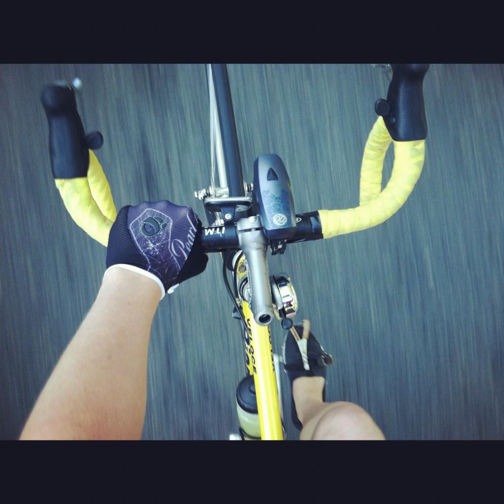 Hub on Wheels with yellow Bianchi